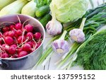 pan full of radishes  three...