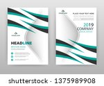 green black business brochure... | Shutterstock .eps vector #1375989908