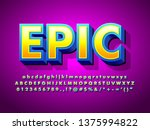 epic cartoon 3d game and movie... | Shutterstock .eps vector #1375994822