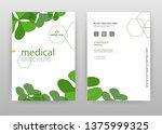 green flower petal business... | Shutterstock .eps vector #1375999325