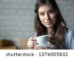 beautiful young blond woman in... | Shutterstock . vector #1376005832
