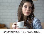 beautiful young blond woman in... | Shutterstock . vector #1376005838