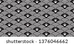 dog paw seamless pattern vector ... | Shutterstock .eps vector #1376046662