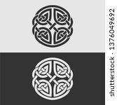element of celtic ornament ... | Shutterstock .eps vector #1376049692