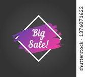 big sale promo lettering. big... | Shutterstock .eps vector #1376071622