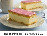 dutch tompouce pastry with pink ... | Shutterstock . vector #1376096162