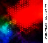 dark multicolor vector texture... | Shutterstock .eps vector #1376105795