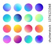 rounded holographic gradient... | Shutterstock .eps vector #1376121068