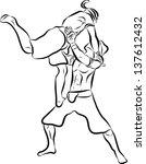 hand drawn muay thai boran   Shutterstock .eps vector #137612432