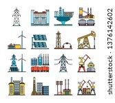 set of abstract  heavy industry ... | Shutterstock .eps vector #1376142602