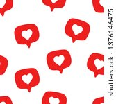 seamless pattern with social... | Shutterstock .eps vector #1376146475
