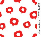 seamless pattern with social... | Shutterstock .eps vector #1376146478