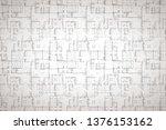 complicated house floor plan... | Shutterstock . vector #1376153162