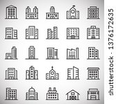 building line icons set on... | Shutterstock .eps vector #1376172635