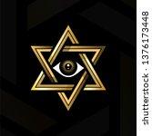 eye of providence in the center ... | Shutterstock .eps vector #1376173448