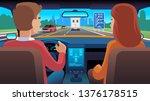 people inside car interior....   Shutterstock .eps vector #1376178515