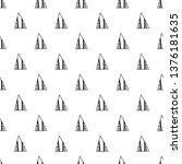 triangles. seamless black and... | Shutterstock . vector #1376181635