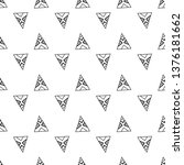 triangles. seamless black and... | Shutterstock . vector #1376181662