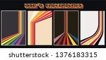 set of retro backgrounds from... | Shutterstock .eps vector #1376183315