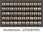 letter wheel font  code padlock ... | Shutterstock . vector #1376187455