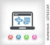 information website page icon   Shutterstock .eps vector #137621165
