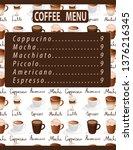 espresso machiato latte... | Shutterstock .eps vector #1376216345