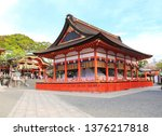 pavilion and haiden in fushimi... | Shutterstock . vector #1376217818