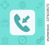 incoming call vector icon sign...