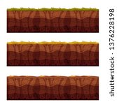 vector soil ground layers with...