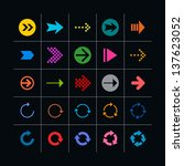 25 arrow sign icon set. set 03...
