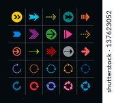 25 arrow sign icon set. set 03...