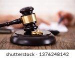 closeup of golden wedding rings ... | Shutterstock . vector #1376248142