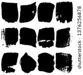 set of vector paint spots from... | Shutterstock .eps vector #1376256878