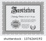 grey invitation template. with... | Shutterstock .eps vector #1376264192