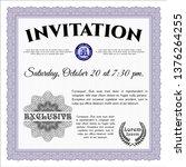 violet formal invitation... | Shutterstock .eps vector #1376264255