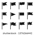 different flag icons set.... | Shutterstock .eps vector #1376266442