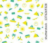 travel tourism seamless pattern | Shutterstock .eps vector #1376269328