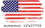 grunge usa flag.  american flag ... | Shutterstock .eps vector #1376277755