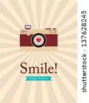 smile camera poster | Shutterstock .eps vector #137628245