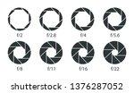 set of apertures for the lens...   Shutterstock .eps vector #1376287052