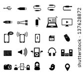 big set of electronic devices...   Shutterstock .eps vector #137628872