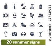 summer signs  vector set of... | Shutterstock .eps vector #137629385