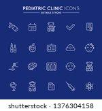 outline icons set. pediatric...   Shutterstock .eps vector #1376304158