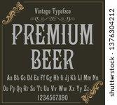 vintage label typeface named...   Shutterstock .eps vector #1376304212