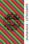 turbulence christmas style... | Shutterstock .eps vector #1376316695