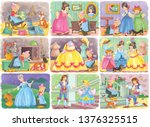 cinderella bundle. fairy tale.... | Shutterstock . vector #1376325515