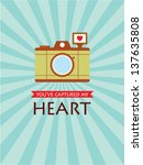 you have captured my heart... | Shutterstock .eps vector #137635808