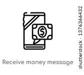 receive money message vector... | Shutterstock .eps vector #1376366432