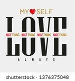 slogan lovely graphic design...   Shutterstock .eps vector #1376375048