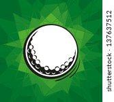 golf ball | Shutterstock .eps vector #137637512